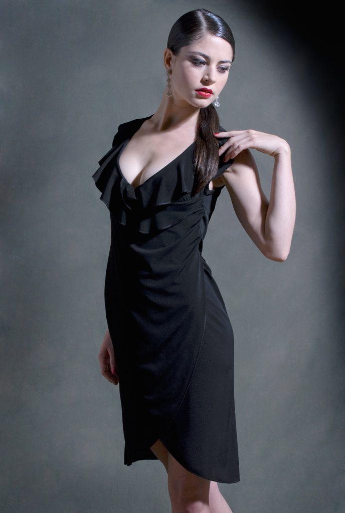 abito su misura Jeanne nero