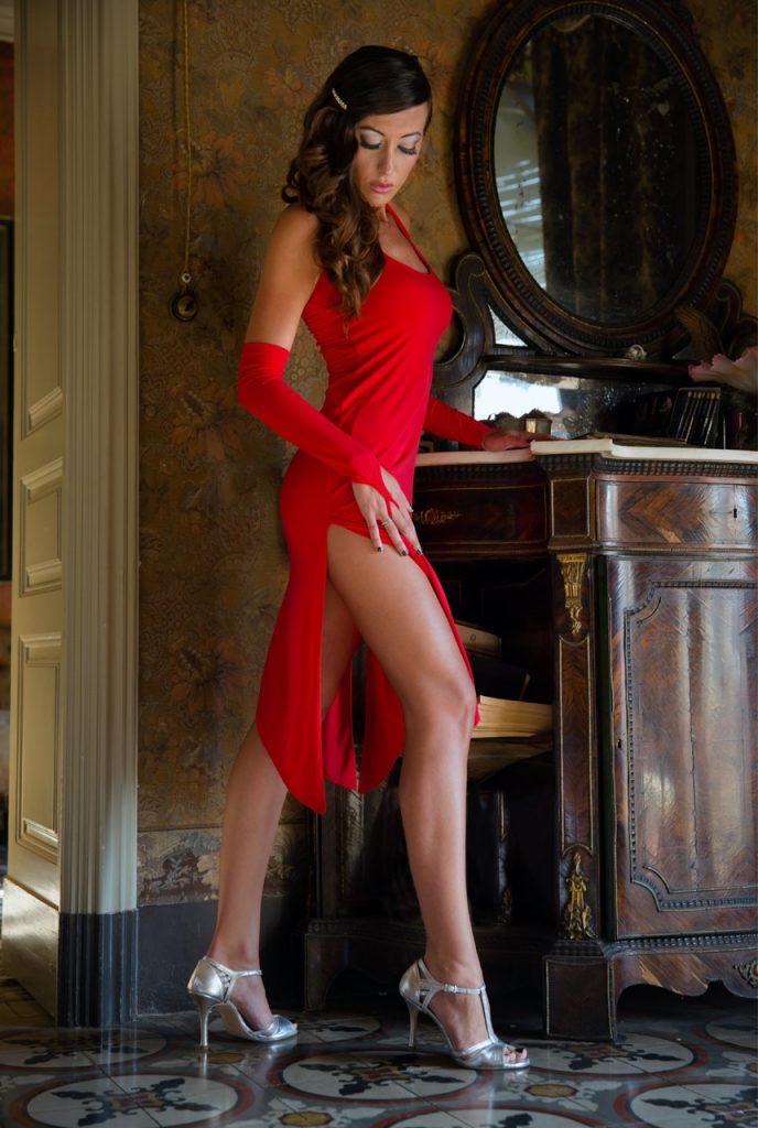 Robe de Tango Jessica Rouge