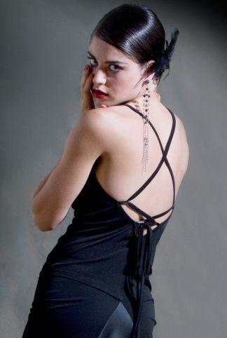 Top Tango Cruzada Noir