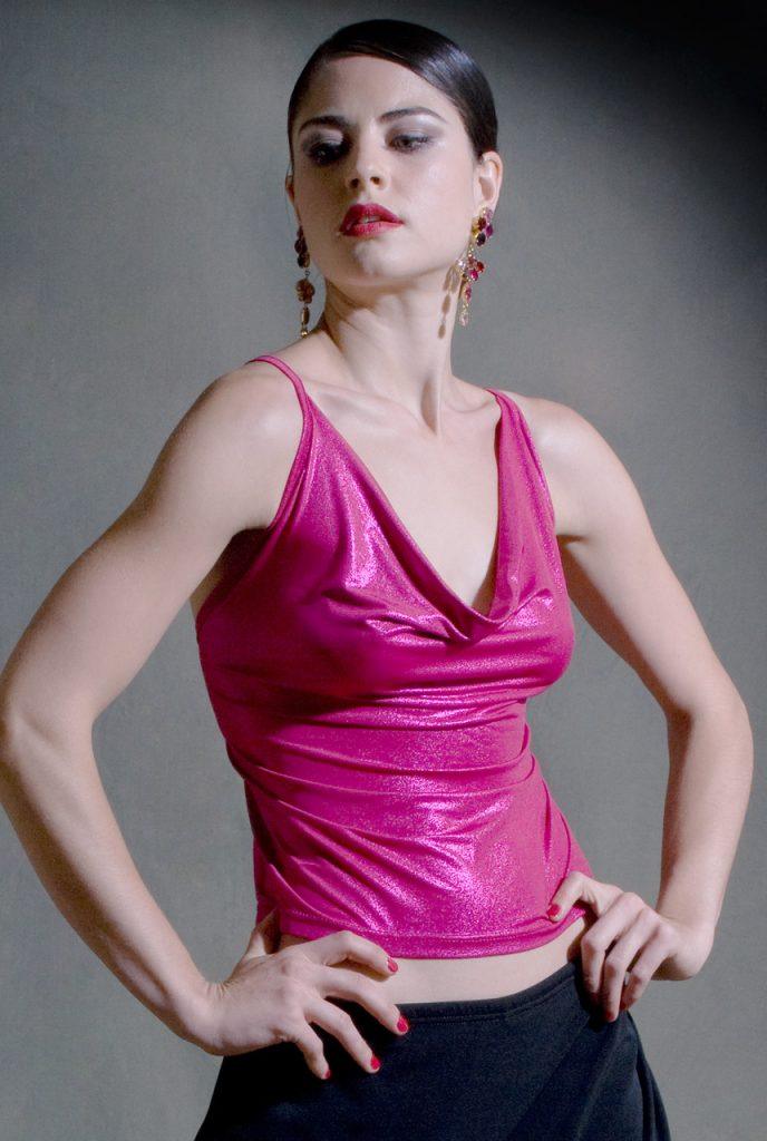 Top Tango Cruzada Fuchsia brillant