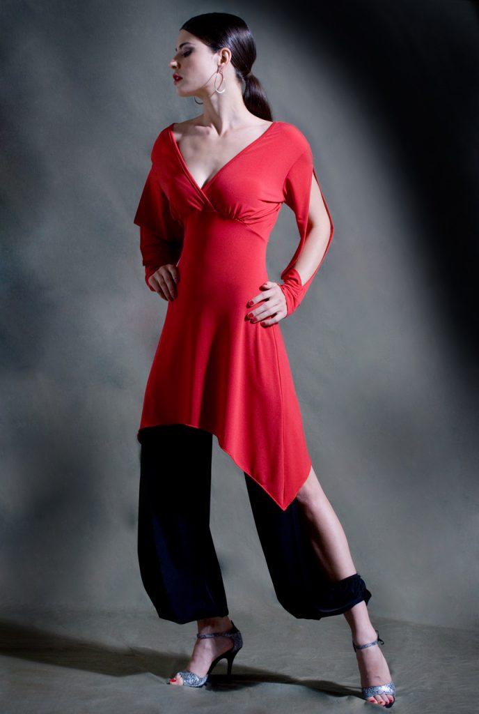 Galleguita Tango Dress Red