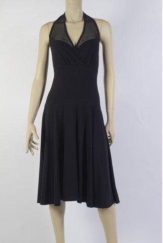 Robe de Tango Palomita Blanco noir + tulle