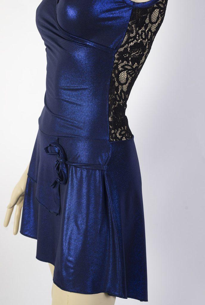 Mini-robe de tango Calesita bleu brillant
