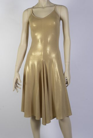 Basica silky gold tango dress