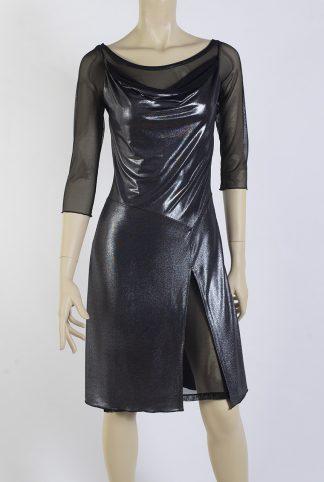 Robe de Tango Cabeceo argent brillant