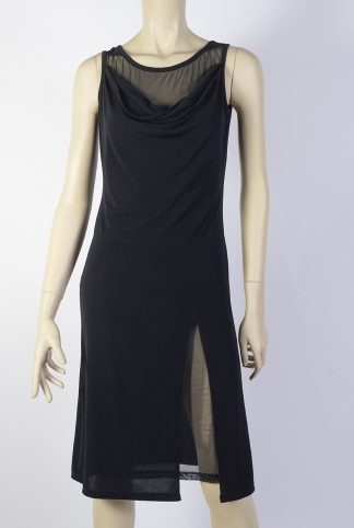 Cabeceo black tango dress without sleeves