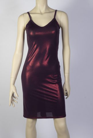 Jalousie silky bordeaux tango dress