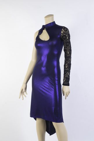 Robe de tango Oblivion violet brillant