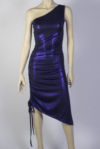 Ocho Adelante silky purple tango dress