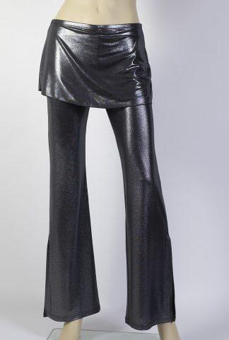 Pantalons de tango Caminito argent brillant