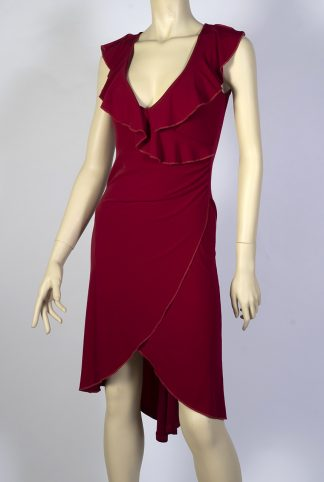 Tango dress Desde el Alma with back tail