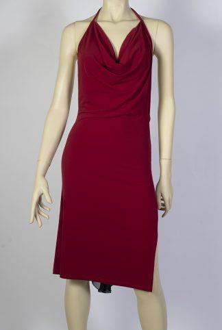 Robe de tango La Mordida rouge and noir
