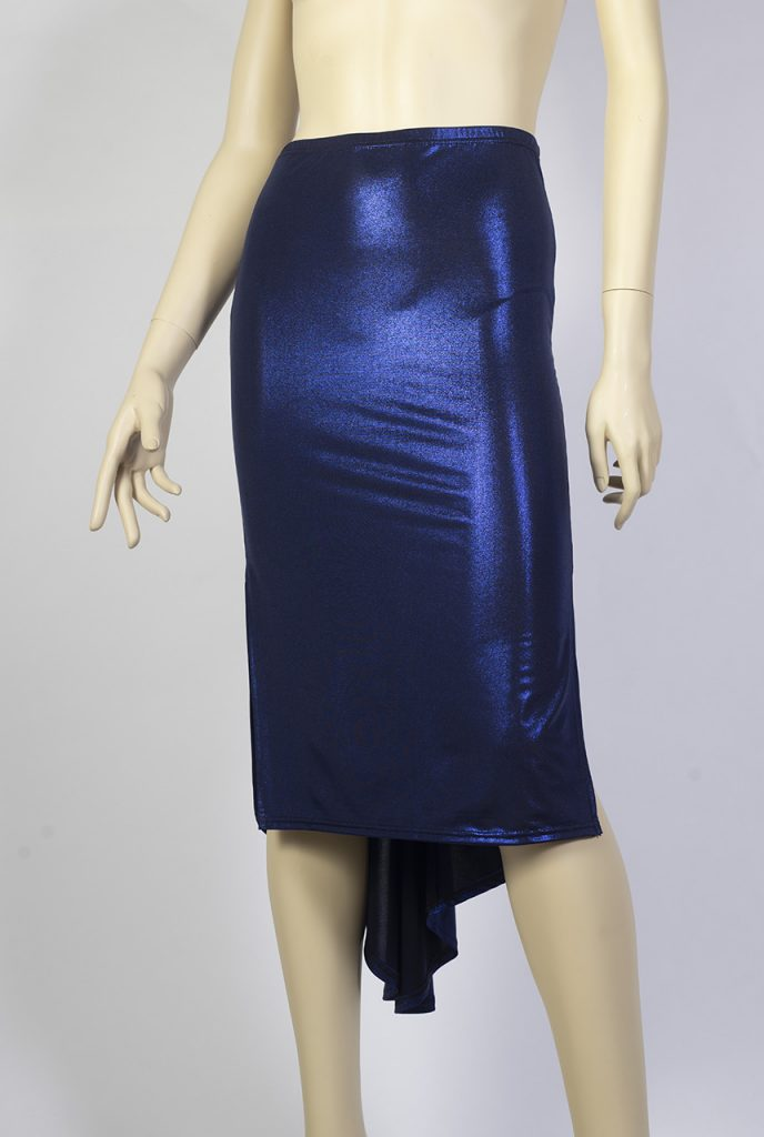 Jupe de tango Mirada bleu brillant