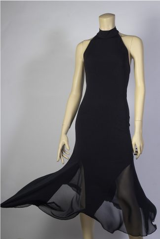 Chacarera tango dress black tulle chiffon