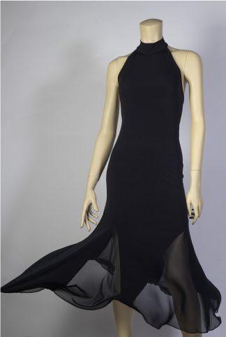 Robe de tango Chacarera noir tulle chiffon
