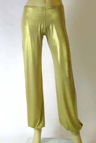 Tango pants Long Babuchas silky gold