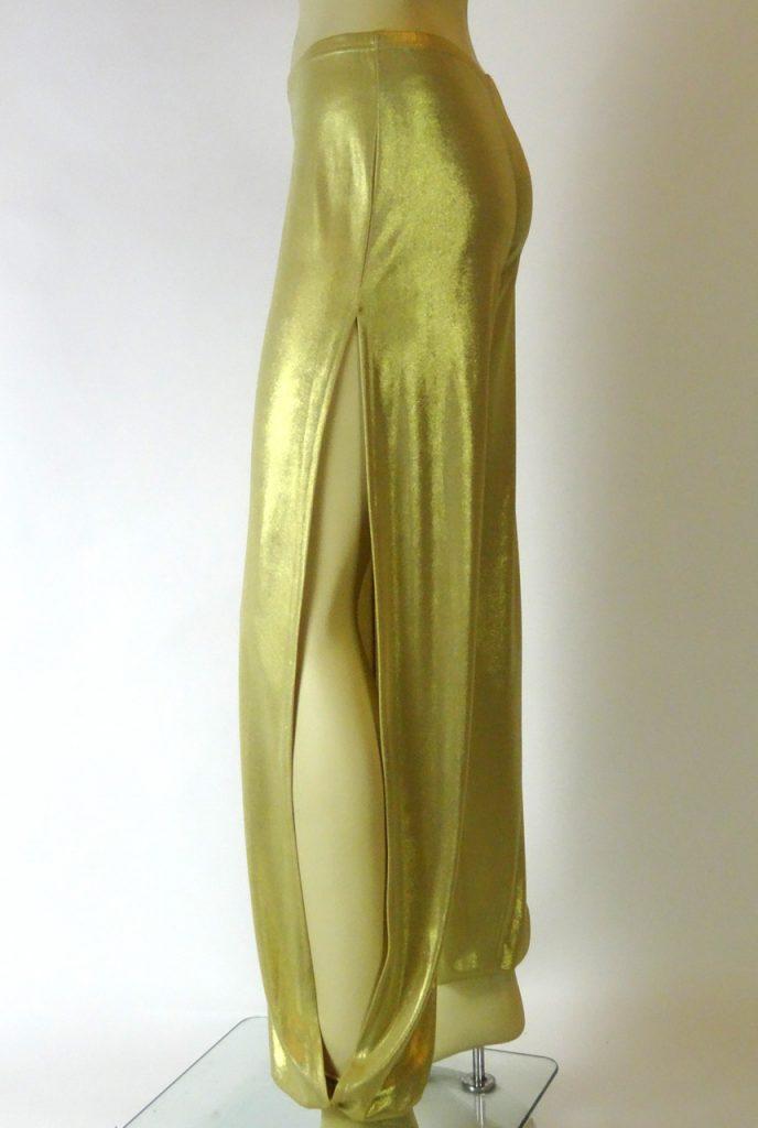 Pantaloni tango Babuchas Lunghi oro lucido