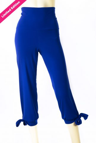 Pantaloni made in Italy Amalfi bluette