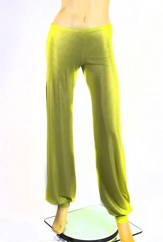 Long Babuchas silky lemon green
