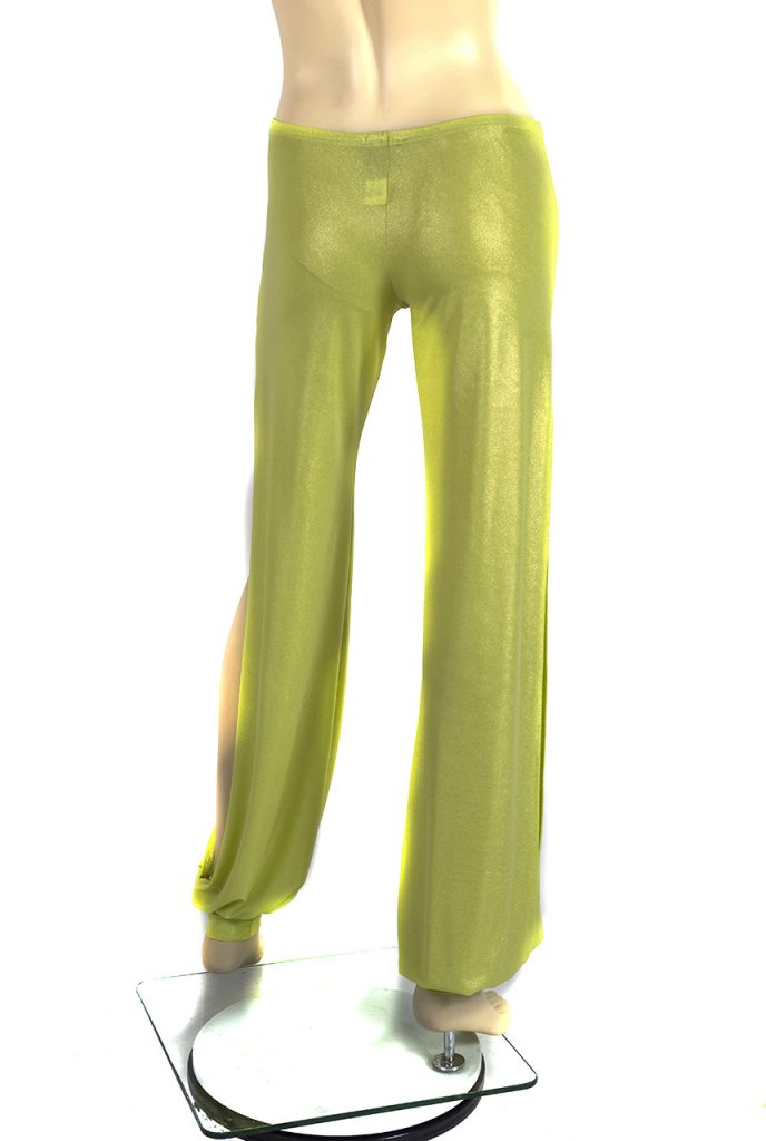 Babuchas Longs vert citron brillant