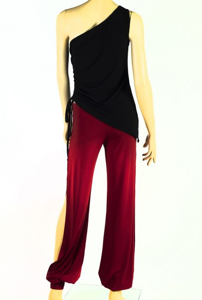 Completo tango top tango miedo nero + pantaloni babuchas rossi
