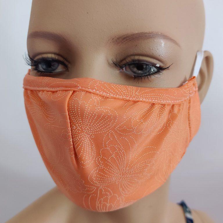 mascherina in tessuto tecnico arancione fantasy