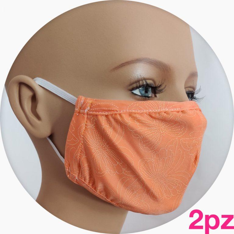 mascherina in tessuto tecnico arancione fantasy - 2pz