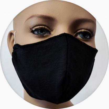 mascherina in cotone doppiata in TNT grigia