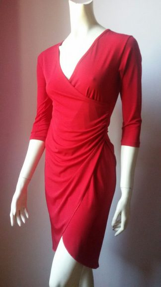 abito su misura margaret rosso