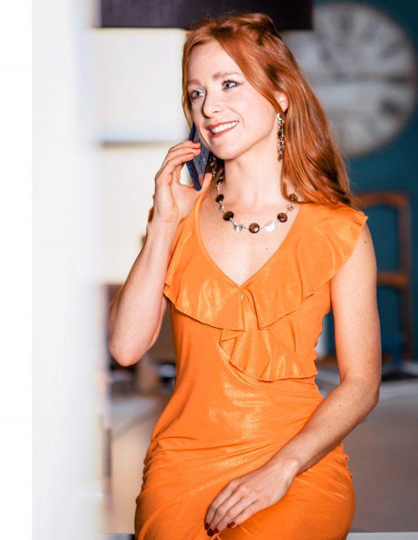 Abito Jeanne arancione